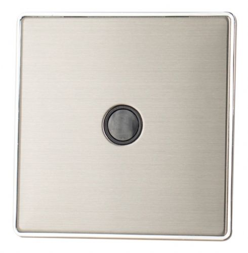 G&H LSS79B Screwless Brushed Steel 1 Gang Flex Outlet Plate